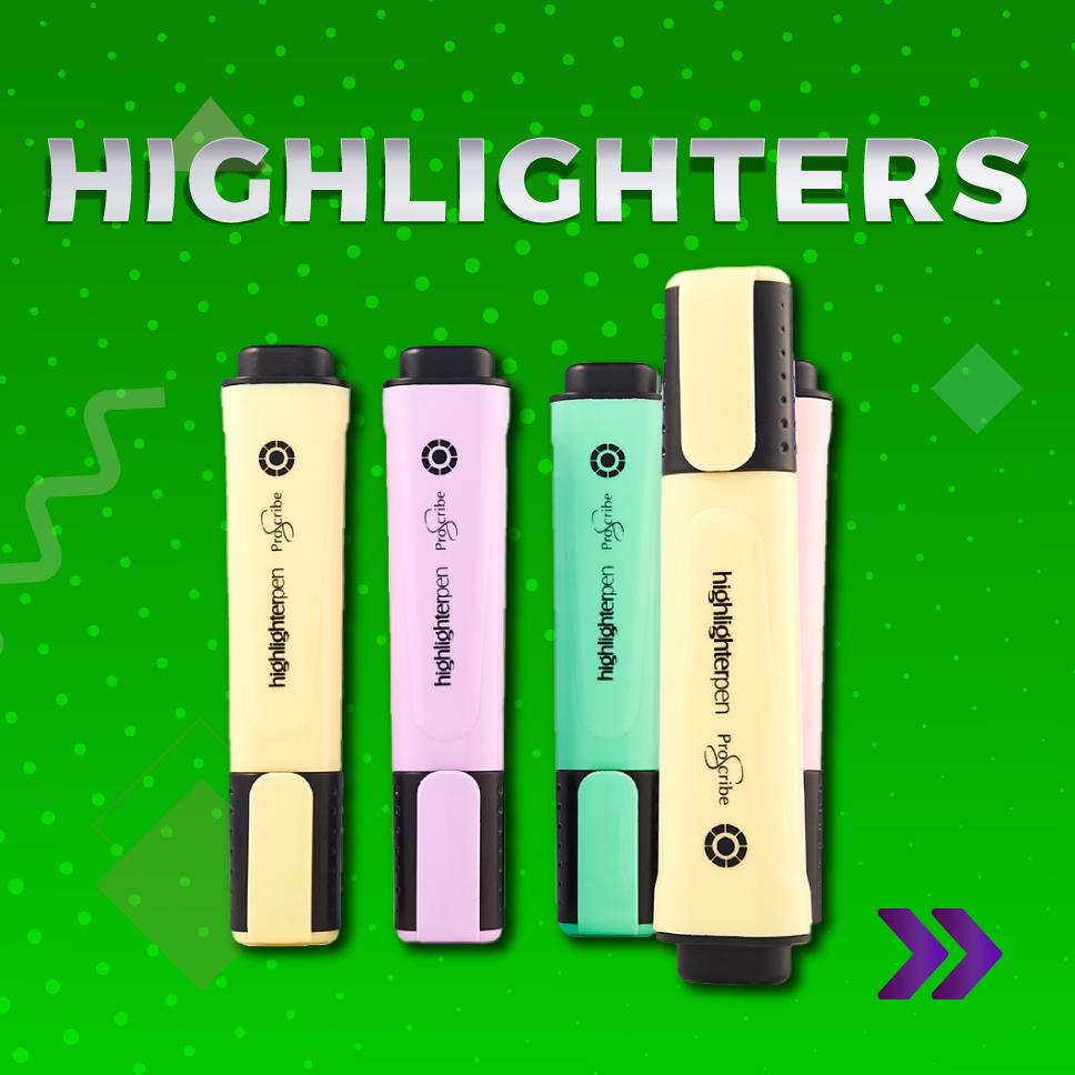 Highlighters | Back 2 college | writeaway.ie