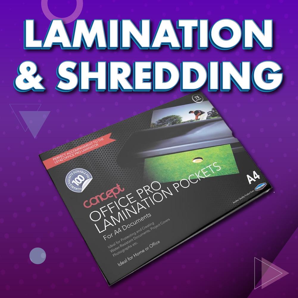 Lamination and Shredding | writeaway.ie