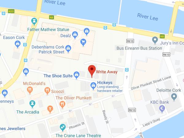 Write Away Cork location map