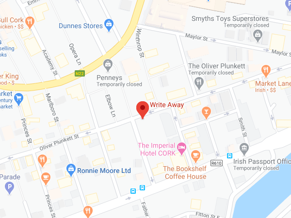 Write Away Cork location map