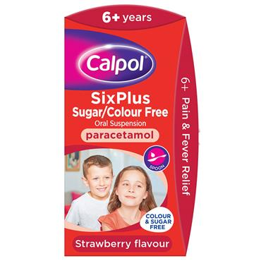 CALPOL 6+ S/FREE STRAWBERRY SUSP