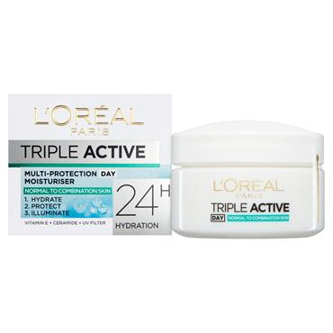 LOREAL TRIPLE ACTIVE NORMAL MULTI PROTECT DAY MOISTURISER