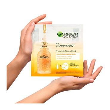 GARNIER VIT C SHOT TISSUE MASK