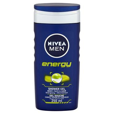 NIVEA MEN ENERGY SHOWER GEL 250ML