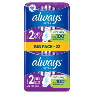 ALWAYS ULTRA LONG WINGS BIG PACK 22S