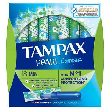 TAMPAX COMPAK PEARL SUPER 18S