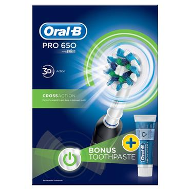 ORAL B PRO 650 RECHARGEABLE TOOTHBR