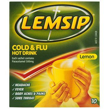 LEMSIP COLD & FLU HOT LEMON SACHETS