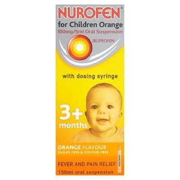 NUROFEN FOR CHILDREN ORANGE 3M 150ML