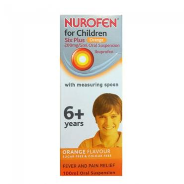 NUROFEN FOR CHILDREN 6+ ORANGE 200M