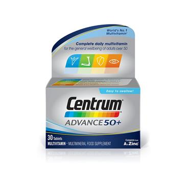 CENTRUM ADVANCE 50+ 30S