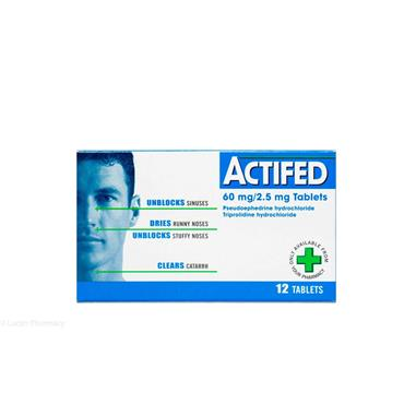 ACTIFED TABS 12S