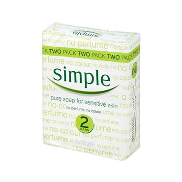 SIMPLE PURE SOAP TWINPACK 2 X 125G