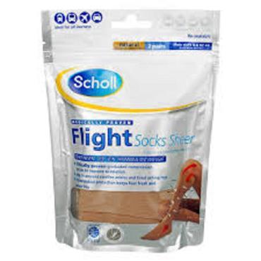 SCHOLL FLIGHT SOCKS 4-6 NATURAL 4-6