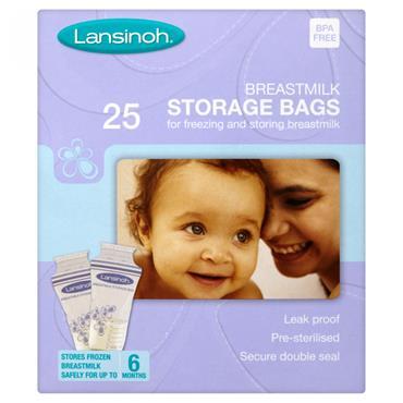 LANSINOH BREAST MILK STORAGE BAGS 25s