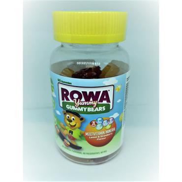 ROWA GUMMY BEARS MULTIVITAMIN 60S