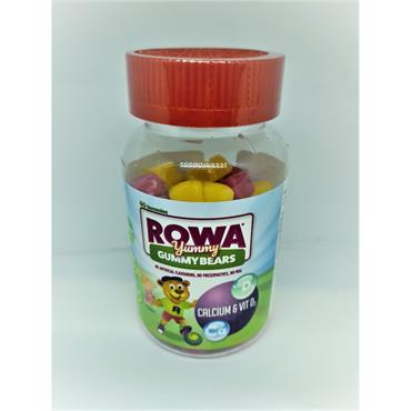 ROWA GUMMY BEARS CALCIUM & VITD 60S