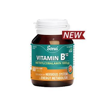 SONA VITAMIN B12 60 TABLETS