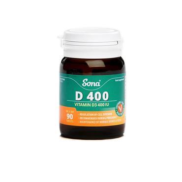 SONA D400 VITAMIN D3 400IU TABS