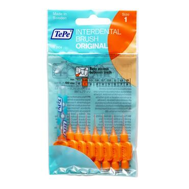 TEPE BRUSH HEADS SIZE 1 ORANGE 8S