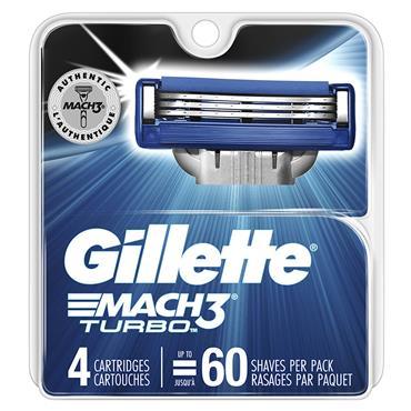 GILLETTE MACH3 TURBO razor BLADES 4S