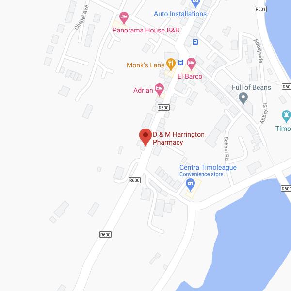 Harrington's Pharmacy Timoleague location map