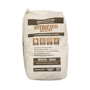 Bondmaster Vitrified Flexible White Adhesive 20kg