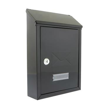 Postplus Townhouse Black gloss Post Box