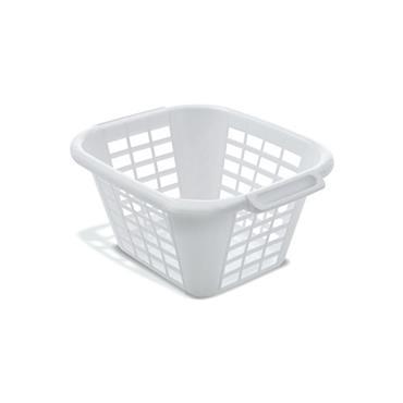 ADDIS 24 Litre Square Laundry Basket, White