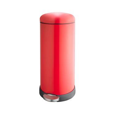 30 L Retro Cushion Close Bin (Red)