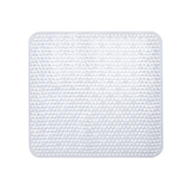 Square PVC Shower Mat Clear