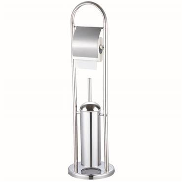 Stainless Steel Brush & Toilet Roll Holder