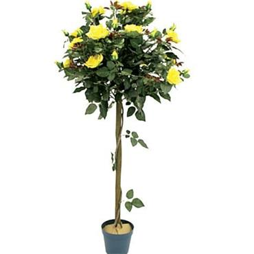 Nearly Natural Rose Tree Yellow 4ft