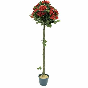 Nearly Natural Rose Tree Red 4ft