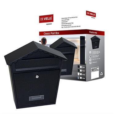 Postplus Classic Post Box Black Gloss