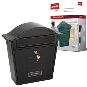 Traditional Design Postbox - Black