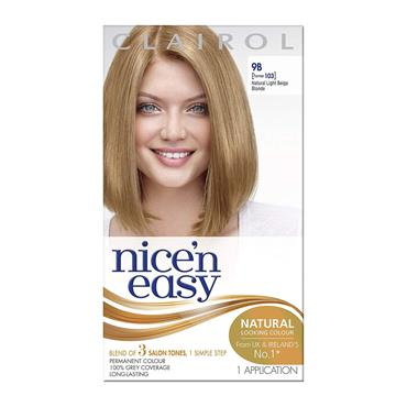 CLAIROL NICE N EASY 9B LIGHT BEIGE BLONDE