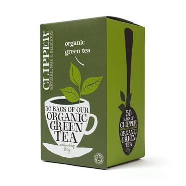 CLIPPER ORGANIC GREEN TEA 50'S