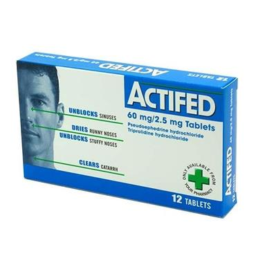 ACTIFED TABLETS 12'S