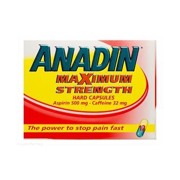 ANADIN MAX STRENGTH 12 CAPSULES