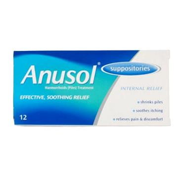 ANUSOL SUPPOSITORIES 12'S