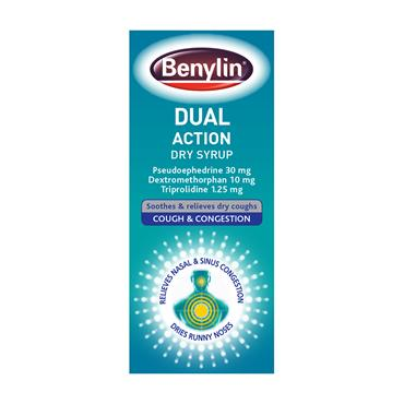 BENYLIN DUAL ACTION DRY SYRUP 100