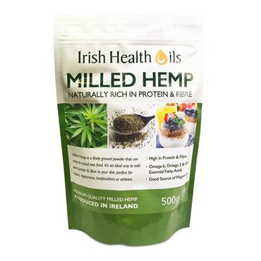 IRISH HEALTH OIL MILLED HEMP 500G