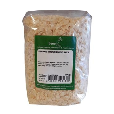BENEVITS ORGANIC BROWN RICE FLAKES 500G