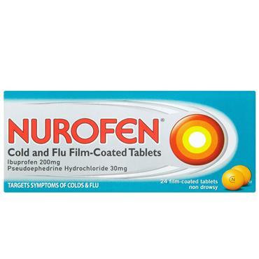NUROFEN COLD & FLU TABLETS 24S
