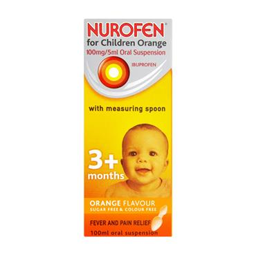 NUROFEN 3+ MONTHS SUGAR FREE ORANGE SPOON 100ML