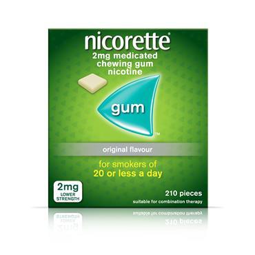 NICORETTE 2MG 210 PIECES GUM
