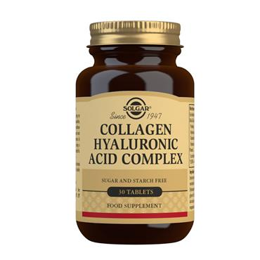 SOLGAR COLLAGEN HYALURONIC ACID COMPLEX 120MG 30 TABLETS