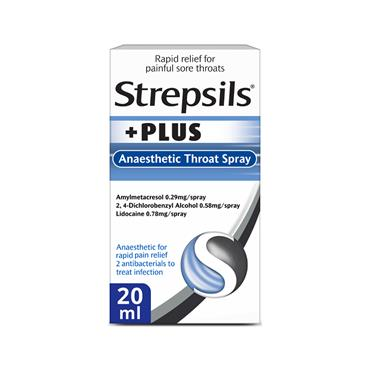 STREPSIL PLUS THROAT SPRAY 20ML