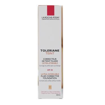 LA ROCHE POSAY TOLERAINE TEINT FLUID CORRECTIVE FOUNDATION 11 LIGHT BEIGE 30ML